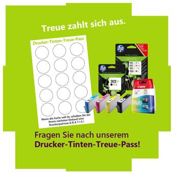 Grüner Kreis, Drucker-Tinten-Treue-Pass mit Patronen