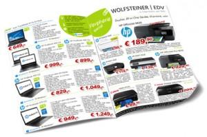 Grafik des Wolfsteiner-EDV Flugblattes