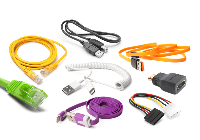 Abbildung verschiedener EDV Kabel