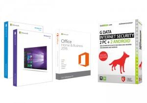 Abbildung verschiedener Softwarepakete