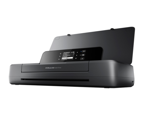 HP Officejet 200 Mobile Drucker aufgeklappt