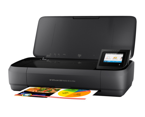 HP Officejet 250 Mobile All-in-One aufgeklappt