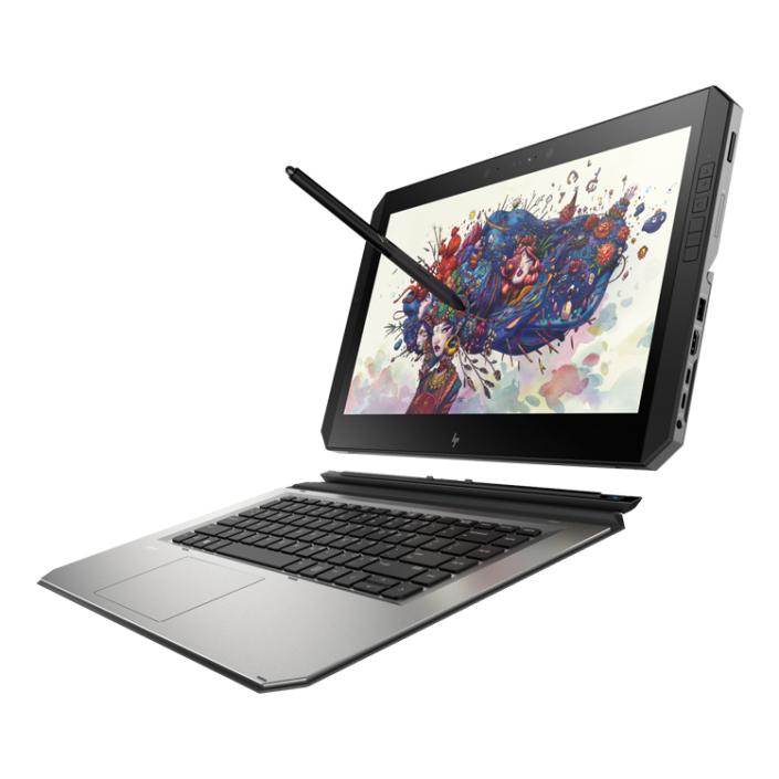 HP Zbook x2 G4 abgedockt mit Stift