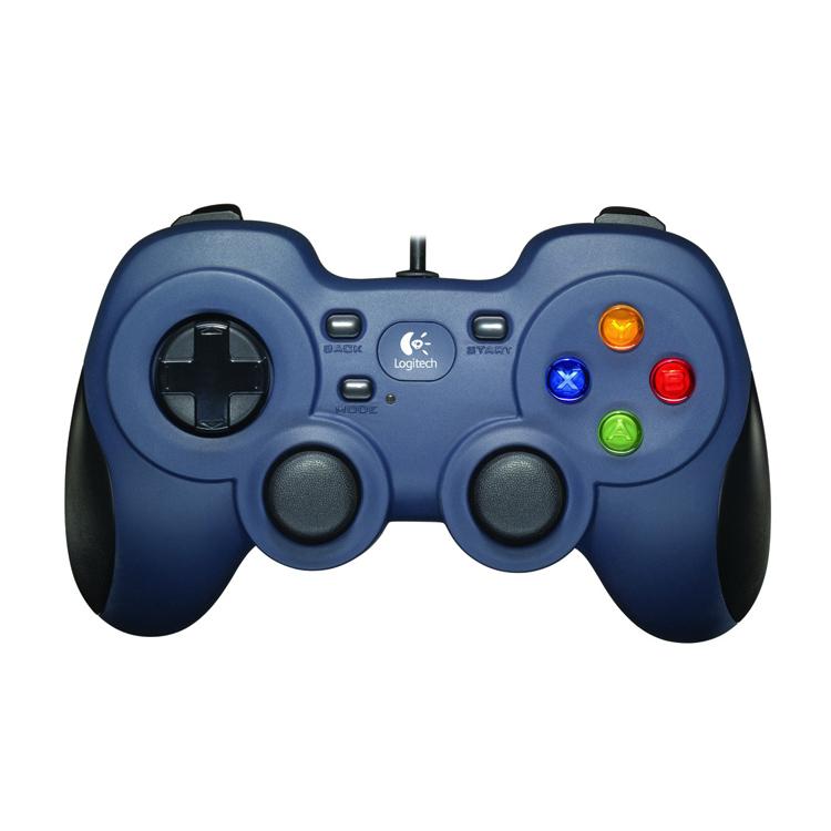 Logitech Gamepad F310 blau schwarz