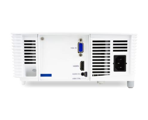 Acer H6517ABD DLP-Projektor Rückansicht Anschlüsse