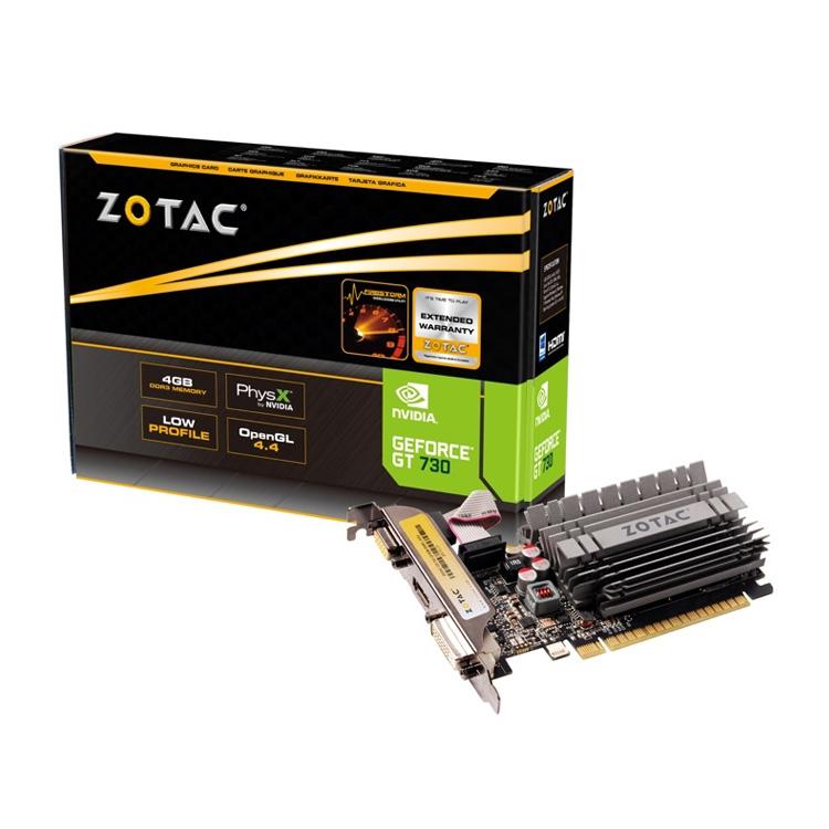 Zotac GeForce GT730 passiv 4GB DDR3 Grafikkarte
