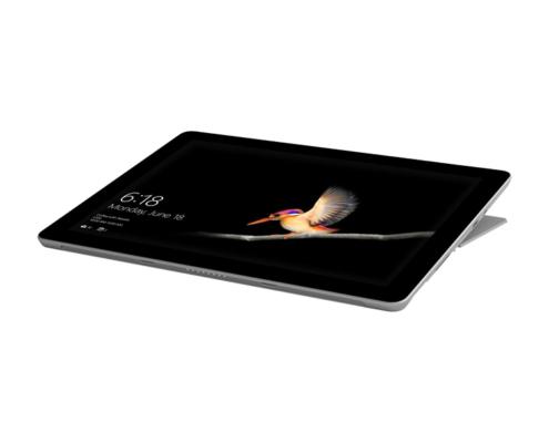 Microsoft Surface Go liegend leicht angewinkelt