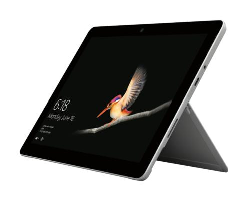 Microsoft Surface Go aufgestellt seitlich rechts