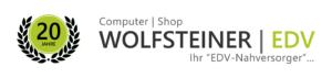 Logo 20 Jahre Computer-Shop Wolfsteiner-EDV mit Schriftzug Ihr edv Nahversorger