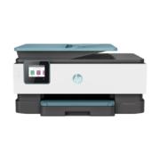 HP OfficeJet Pro 8025, Tintenstrahl-Multifunktionsdrucker mit elementen in der farbe türkis