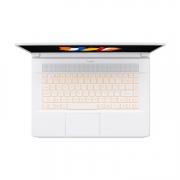 Acer ConceptD 7 CN715 15 zoll notebook weiss mit orange beleuchteter tastatur von oben