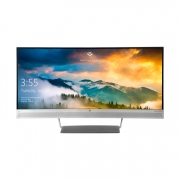 HP EliteDisplay S340c breitbild monitor silber mit lautsprecher