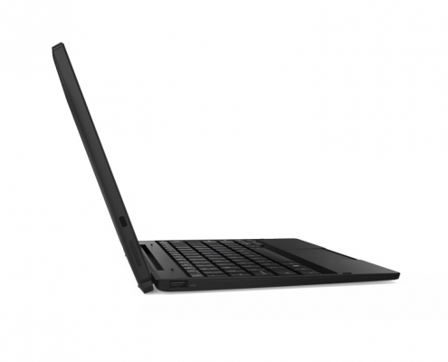 Lenovo Tablet 10 seitlich mit Tastatur angedockt