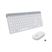Logitech Slim Combo MK470 Wireless Keyboard and Mouse weiss