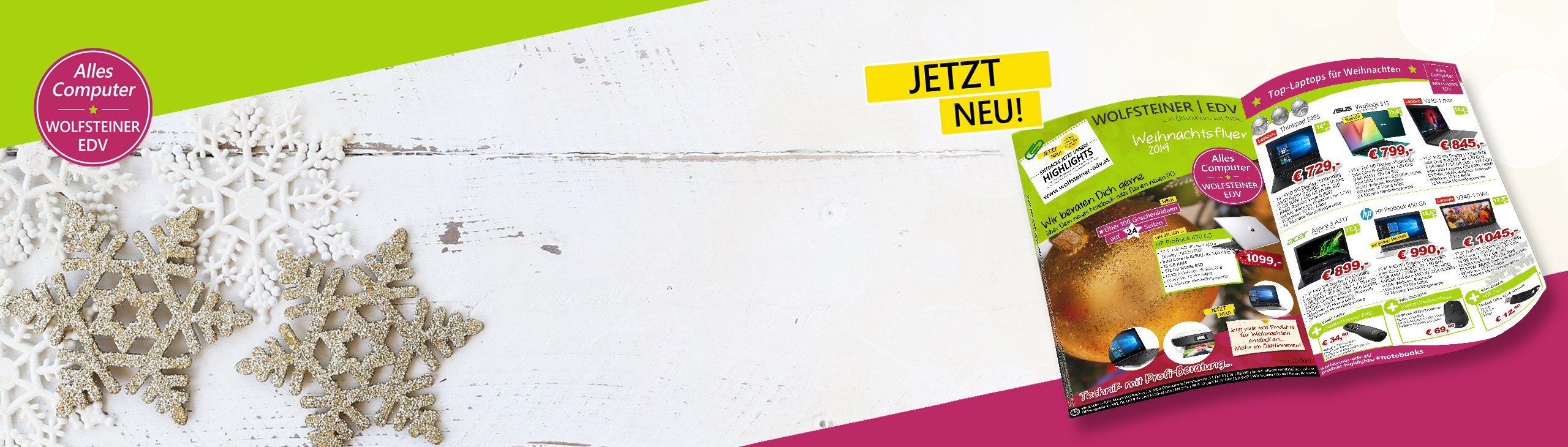 Banner neuer Weihnachtsflyer