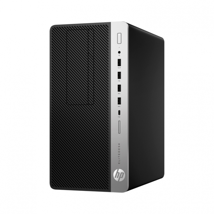 HP Elitedesk 705 G4 MT PC schwarz silber front