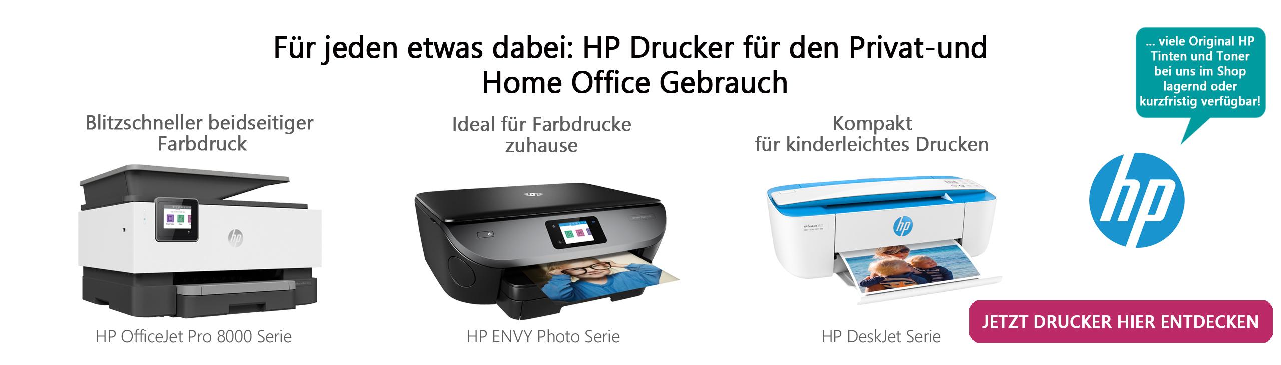 Banner HP Drucker