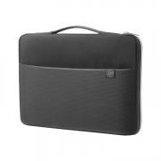 HP 17 Carry Sleeve schwarz silber