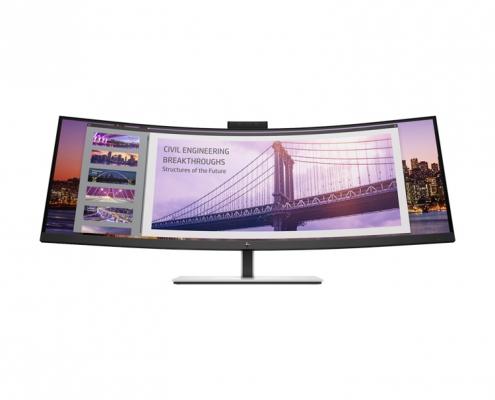 HP EliteDisplay S430c Curved Business Monitor front