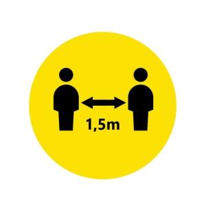 Piktogramm Bitte Abstand halten 1,5m