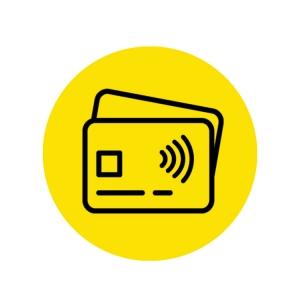 Piktogramm bargeldlos / kontaktlos bezahlen