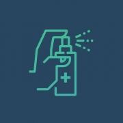 Piktogramm desinfizieren