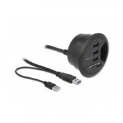 Delock USB 3.0 Tisch-Hub 2