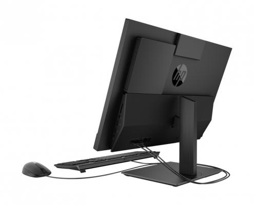 HP ProOne 440 G5 All-in-One PC schwarz, seitlich hinten