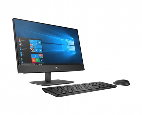 HP ProOne 440 G5 All-in-One PC schwarz, seitlich links