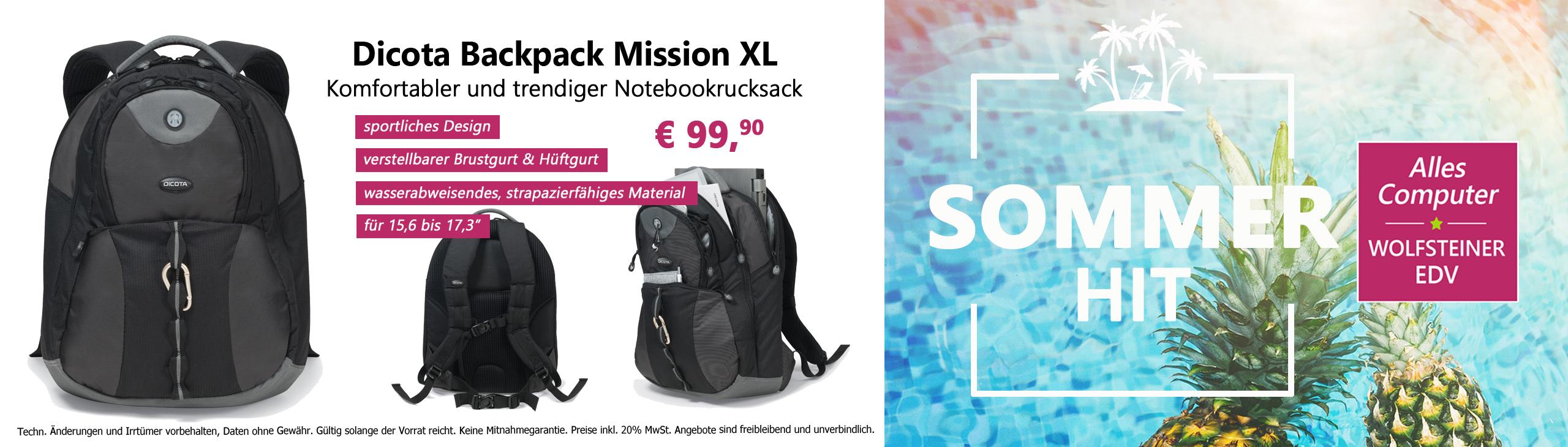 Banner Sommer Hit Notebook Rucksack