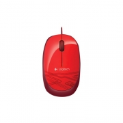 Logitech M105 Corded Mouse red