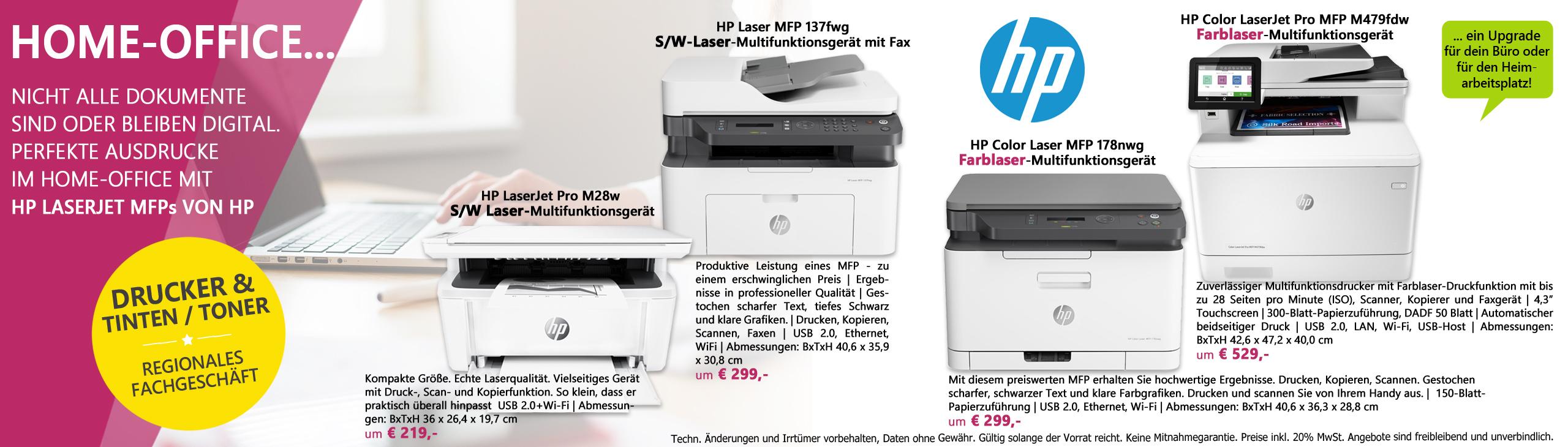 Banner homeoffice hp laserdrucker