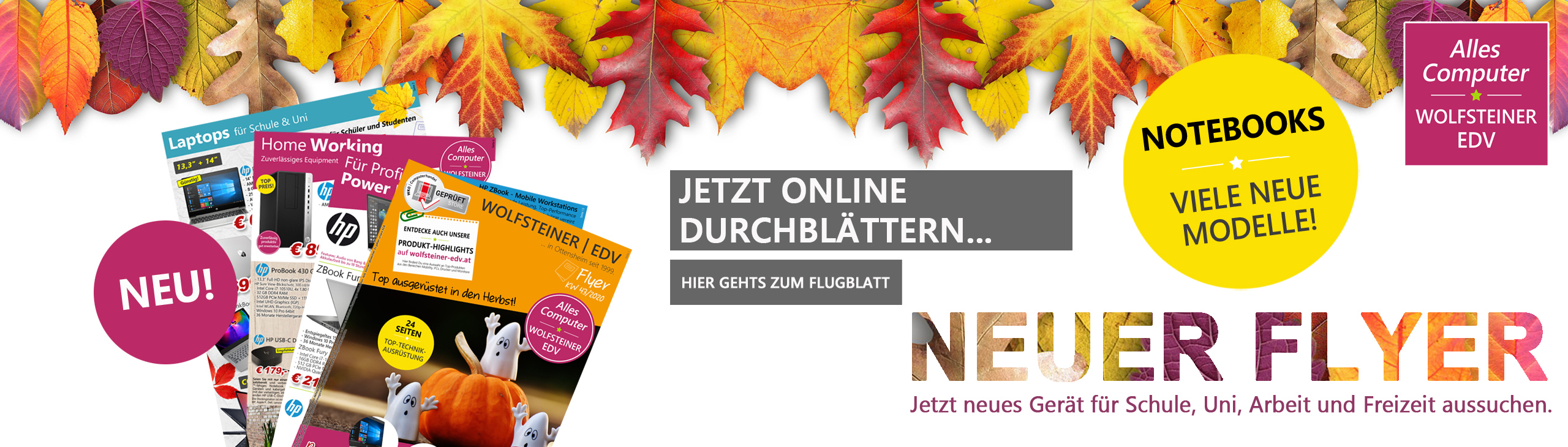 Banner Herbst Flyer