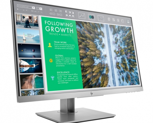 HP EliteDisplay E243 seitlich links