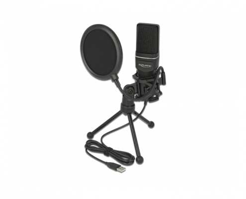 Delock USB Kondensator Mikrofon Set