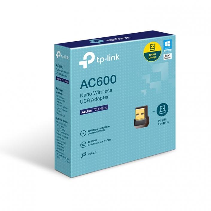 TP-Link Archer T2U Nano AC600-Boxshot