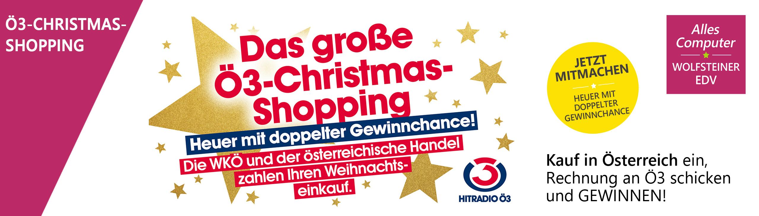 Banner oe3 christmas shopping 2020