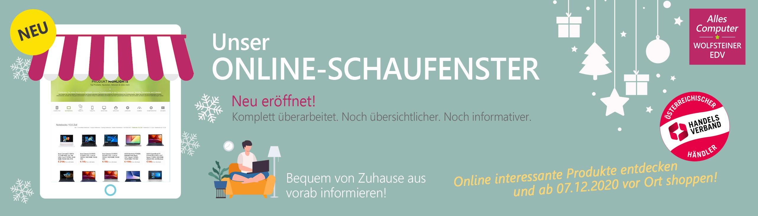 Banner online schaufenster neu