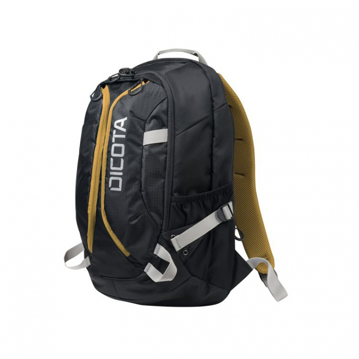 Dicota Backpack Active schwarz-gelb -links