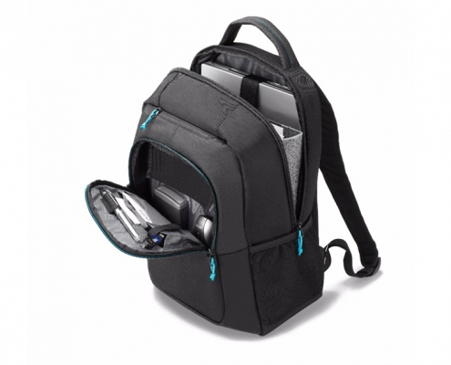 Dicota Backpack SPIN schwarz -offen