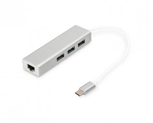 Digitus DA-70255 USB-C Hub Gigabit Ethernet Adapter