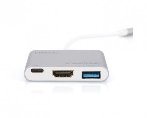 Digitus DA-70838-1 USB-C Multiport Adapter 3-port -vorne