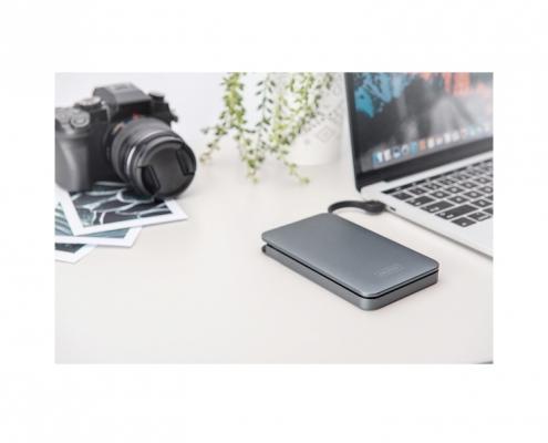 Digitus Externes SSD-HDD Gehaeuse 2,5 zoll USB-C DA-71113 - Musteranwendung