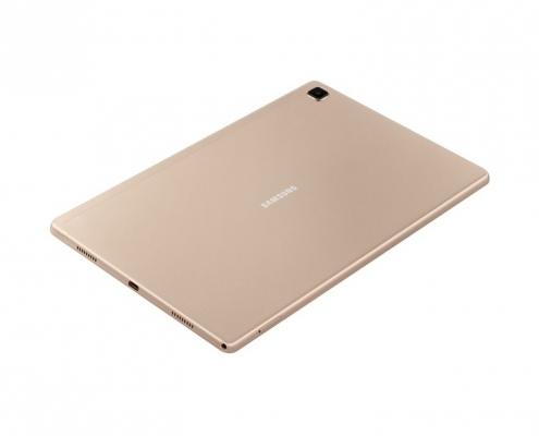 Samsung Galaxy Tab A7 T500 T505 Gold -seitlich-hinten