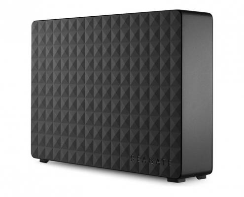 Seagate Expansion Desktop schwarz seitlich-links