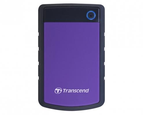 Transcend StoreJet 25H3 Mobile violett shockproof -oben