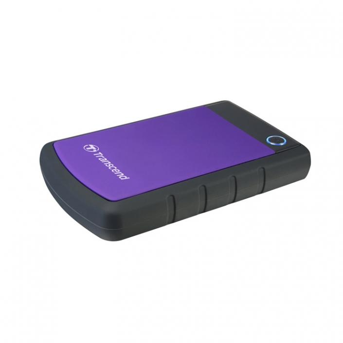 Transcend StoreJet 25H3 Mobile violett shockproof -seitlich