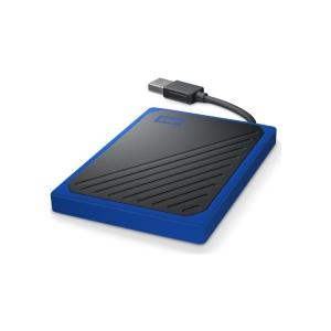 WD My Passport Go SSD schwarz-blau liegend