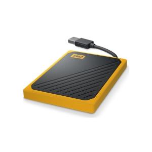 WD My Passport Go SSD schwarz-gelb liegend