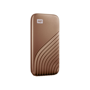 WD My Passport SSD gold seitlich-links